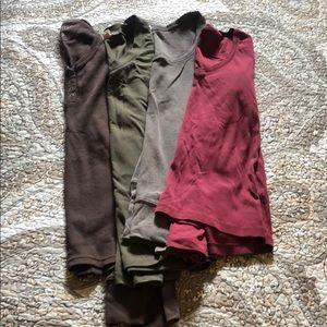 4 pack long sleeve tops